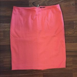 Coral Pencil Skirt H&M